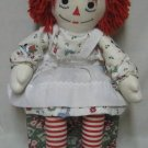 "RAGGEDY ANN LG 24"" RAG DOLL XMAS HOLIDAY DRESS RARE"