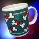 Holiday DOG BONES Bows Christmas Cocoa Coffee Mug Cup
