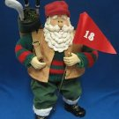GOLF GOLFER GOLFING SANTA CLAUS CHRISTMAS FIGURE SPORTS