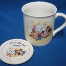Kitty Cats Lets Be Mew-Tual Friends Mug Cup w Lid Cute
