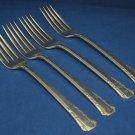 Oneida Del Mar 1881 Rogers Silverplate 4 Dinner Forks