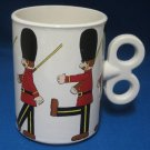 Toy Soldier Collectible Mug Cup Wind Up Key Handle Rare
