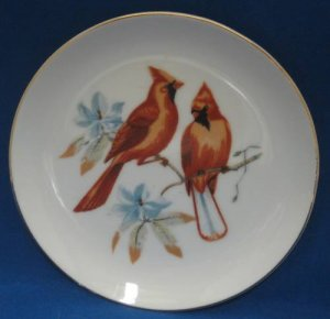 Cardinals Birds Collector Plate Chadwick Miller Vintage