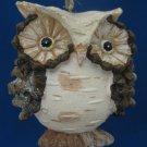 Unique Owl Bird Pine Cone Christmas Ornament Holiday