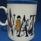 WATERLOO BATTLE NAPOLEON HISTORY COLLECTIBLE MUG CUP NR