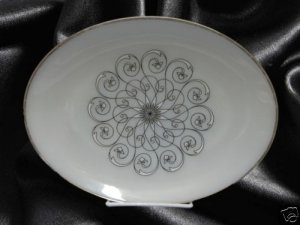 ANCHOR HOCKING SUBURBIA VIENNA LACE OVAL PLATTER PLATE
