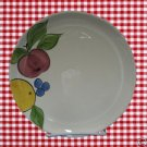 PORTUGAL FRUIT PLATES 2 HAND PAINTED ANGELAS GARDEN WOW