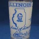 VINTAGE ILLINOIS LAND OF LINCOLN FROSTED GLASS FEDERAL