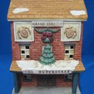 Christmas Village Grand Theatre Lighted Building Bisque