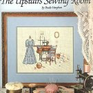 CROSS STITCH PATTERN UPSTAIRS SEWING ROOM VINTAGE SCENE