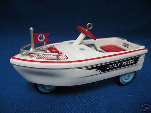 HALLMARK MURRAY JOLLY ROGER BOAT KIDDIE CAR ORNAMENT NR