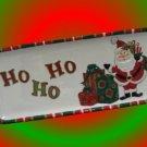 FITZ FLOYD SANTA HO HO HO THATS A WRAP CHRISTMAS DISH