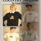 COUNTED CROSS STITCH PATTERN MIMIS COUNTRY SWEATS 1987