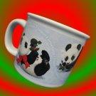 PLAYFUL HOLLY PANDA CHRISTMAS HAPPY HOLIDAYS LG MUG CUP
