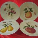 PIER 1 ONE PROVENCE TUSCAN FRUIT 4 SALAD DESSERT PLATES