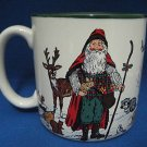 WOODLAND SANTA ANIMALS CHRISTMAS HOLIDAY MUG CUP NEW