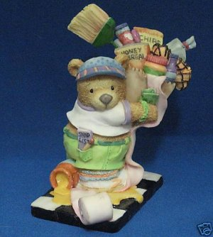 TENDER TUCKER TEDDY BEAR ITS ALWAYS SOMETHING FIGURINE