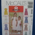 McCalls Sewing Pattern 3542 Childs Girls Dress Sz 3 - 6
