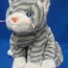 Gray Tabby Kitty Cat Plush Stuffed Animal Ty Silver