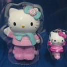 HELLO KITTY WAVING SKATING CHRISTMAS ORNAMENT SET 2 NIB