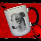 GREYHOUND DOG COFFEE MUG CUP ARTIST VLADIMIR MINT NEW