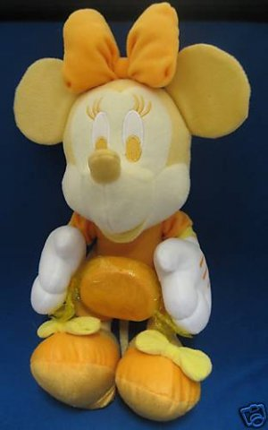 DISNEY BUTTERSCOTCH YELLOW MINNIE MOUSE SPRING PLUSH NR