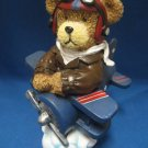 Teddy Bear Pilot Flying Ace Airplane Figurine Statue