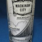 MACKINAW CITY MACKINAC BRIDGE MICHIGAN SOUVENIR GLASS
