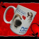 THE DOG BEAGLE PUPPY LOVE IS IN THE AIR COFFEE MUG CUP