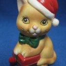 ORANGE TABBY KITTY CAT BELL CHRISTMAS ORNAMENT CUTE