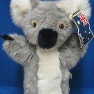 Australian Koala Plush Stuffed Hand Puppet CA Toys MWT