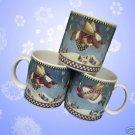 DEBBIE MUMM SNOW ANGLEL VILLAGE SAKURA MUGS CUPS 3