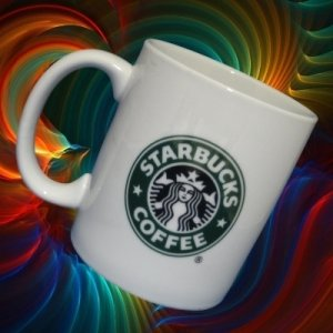 STARBUCKS COFFEE GREEN MERMAID LOGO MUG CUP 2006 MINT