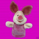 DISNEY POOH FRIEND PIGLET PLUSH HAND PUPPET STUFFED TOY