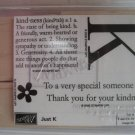Stampin Up JUST K  Rubber Stamps NEW Unmounted Retired