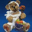 HALLOWEEN TEDDY BEAR MUMMY COSTUME TRICK TREAT FIGURINE