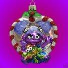 SESAME STREET ABBY CADABBY GLASS CHRISTMAS ORNAMENT NIB