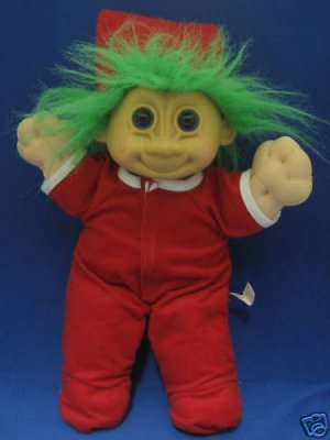 TROLL DOLL CHRISTMAS PJs DROP BOTTOM RUSS BERRIE CUTE