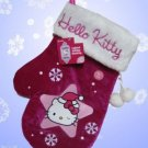 HELLO KITTY LIGHTED MITTEN PLUSH CHRISTMAS STOCKING NWT