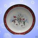 ROYAL SEASONS RED SNOWMAN STONEWARE 1 DINNER PLATE