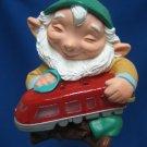 Hallmark Elf w Train Light Up Christmas Ornament 1991