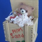Teddy Bear From Santa Crate Christmas Ornament Cute