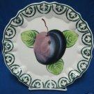 ITALIAN ART POTTERY PLUM FRUIT DECROATIVE PLATE ITALY