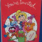 Henson MUPPETS Party Invitations Kermit Fozzy Gonzo NIP