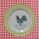 ROOSTER GLORY 1 DINNER PLATE YELLOW TABLETOPS UNLIMITED