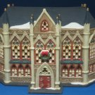Christmas Village Cathedral Church Lighted As Is O'Well