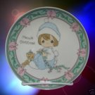 PRECIOUS MOMENTS MEOWY CHRISTMAS KITTY CAT PLATE 1995