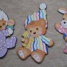Teddy Beddy Bear Nursery Baby Room Wall Decor Set 3
