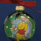 Disney POOH PIGLET Glass Ball Christmas Ornament New