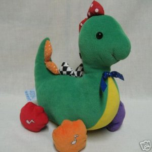 DINOSAUR MUSICAL PLUSH BABY TODDLER TOY COLORFUL CUTE